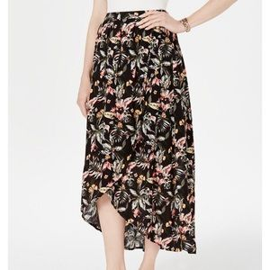 Style & co floral high-low skirt size L